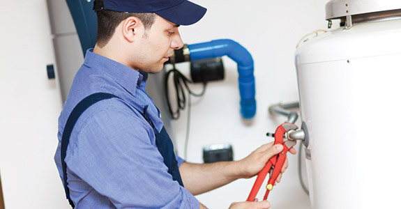 Heating and air conditioning repair man